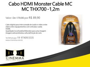 Cabo HDMI Monster Cable na Cinemma®